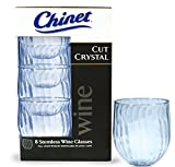 Chinet Cut Crystal 15oz Stemless Wineglass 40ct