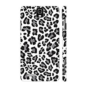 Infocus M330 A white Leopard designer mobile hard shell case by Enthopia