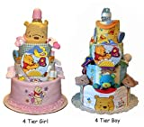 Tumbleweed Babies 1080304 Winnie the Pooh 4 Tier Diaper Cake