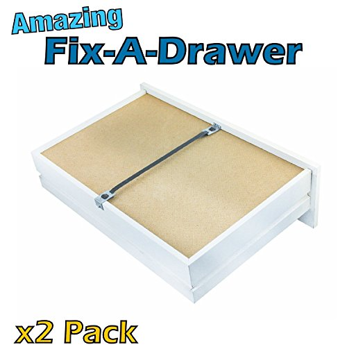Fix a Drawer kit (x2 pack) Repair broken drawers quickly & easily, reinforce / strengthen drawers, mend broken drawers (Drawer Slide Kit compare prices)