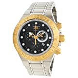 Invicta Mens Subaqua Sport Gold Tone Swiss Chronograph Stainless Steel Bracelet Watch 1528