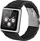 iWatchz Kube Link Band with iWatchz Clip, Soft Black