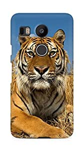 Amez designer printed 3d premium high quality back case cover for LG Nexus 5x (Tiger 4)