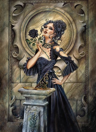 Clementoni Puzzle 39110 - Black Rose -  1000 pezzi Gothic Collection
