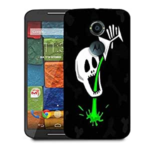 Snoogg Skull Drinking Poison 2787 Designer Protective Phone Back Case Cover For Moto X 2nd Generation
