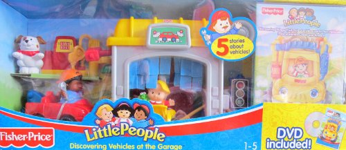 Buy Low Price Fisher Price Little People Discovering VEHICLES at the GARAGE w Car Wash, Tow Truck. Gas Pump, DVD & MORE! (2006 Fisher-Price) Figure (B004G7SIZM)