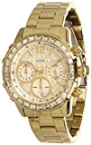 GUESS Womens U0016L2 Dazzling Sport Gold-Tone Chronograph Watch