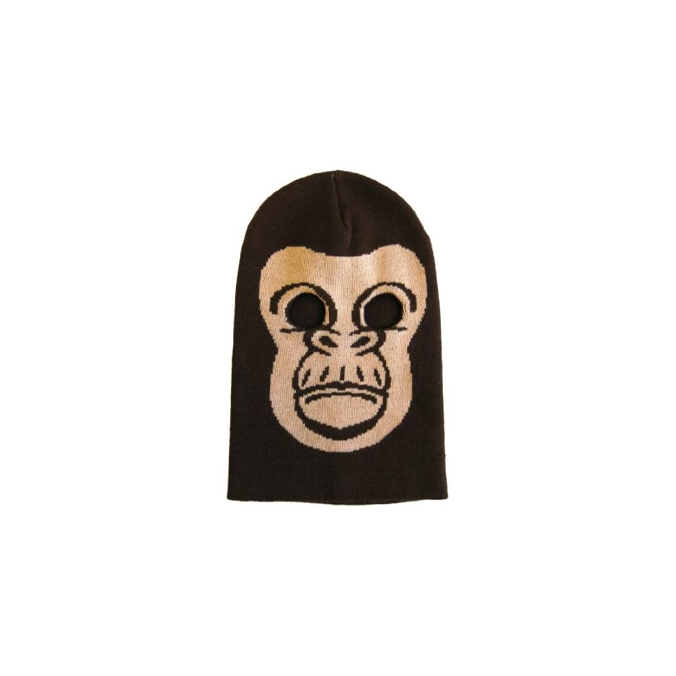 15bb3843a3d Gorilla Ape Ski Mask Knit Bank Robber Disguise Mask Has Cut Out Holes For  Your Eyes