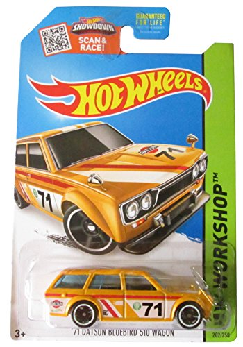 Hot Wheels, 2015 HW Workshop, '71 Datsun Bluebird 510 Wagon [Yellow] #202/250 (2015 Hot Wheels Datsun compare prices)