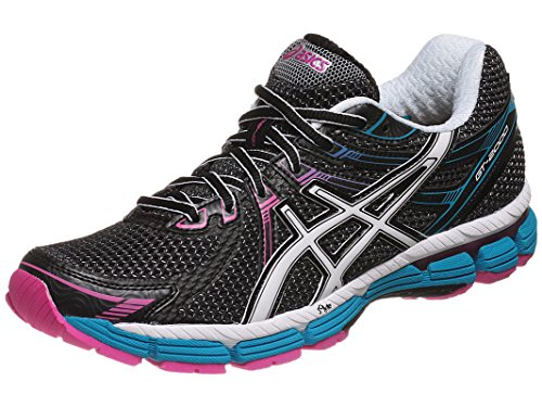 Asics Women'S Gt-2000 Running Shoe,Black/White/Electric Blue,11.5 2A Us