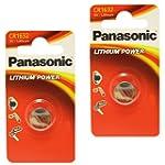 2 x Panasonic 1632 CR1632 3V Lithium...