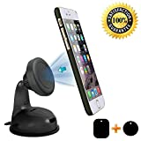 #6: Photron PH-MH65 Universal Magnetic Car Mount, Windshield Mount and Dashboard Mount Holder for Cell Phones Smartphones and Mini Tablets with 2 Magnetic Plates & 3M Adhesive