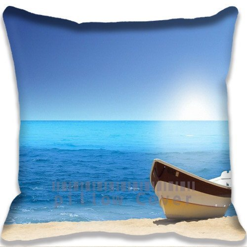 little-boat-on-beach-colorful-cotton-and-polyester-home-decorative-throw-pillow-cover-cushion-case-1