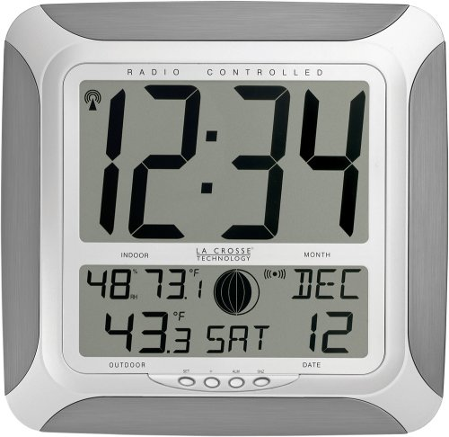 La Crosse Technology Ws 8248u Al Atomic Digital Wall Clock