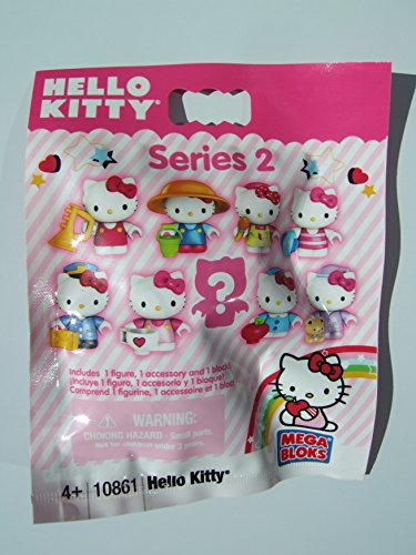Hello Kitty Mega Bloks #10861 Series 2 Minifigure Mystery Pack 1 RANDOM Mini Figure