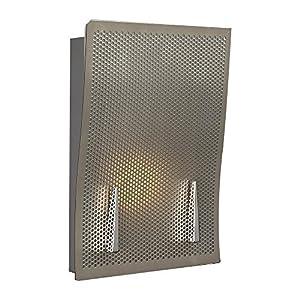 PLC Lighting 6548 SN 1-Light Wall Sconce Calla Collection, Satin Nickel Finish
