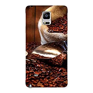 Enticing Coffee Beans Brown Back Case Cover for Galaxy Note 4