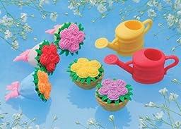 (6pcs) Iwako Japanese Puzzle Take Apart Erasers Flower