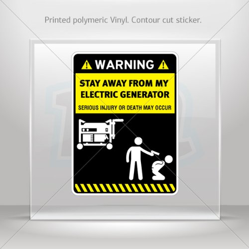 Stickers Decal Funny Stay Away From My Electric Generator Motorbike Weatherproof Hobbies 0400 X4576