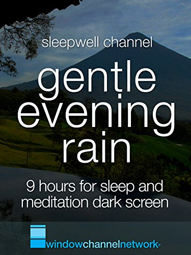Gentle Rain, 9 hours for Sleep and Meditation with dark screen