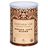 EarthSavor Gourmet Coffee, Mocha Java Blend, 10-Ounce Cans (Pack of 3)
