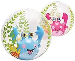 Intex Aquarium Transparent 24 inch Inflatable Beach Ball - Water Toys Games