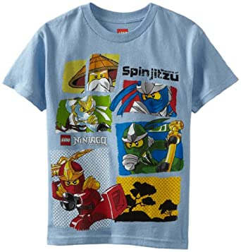 Lego Ninjago Boys 8-20 Short Sleeve Tee, Blue, Small
