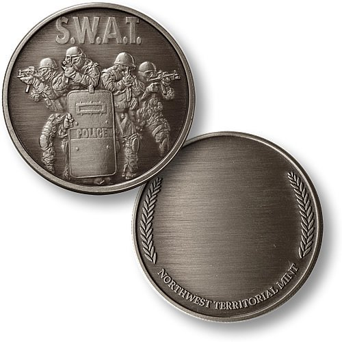 SWAT 4 with Wreath Nickel Antique
