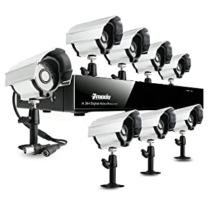 Zmodo 8 Channel Security CCTV DVR System With 8 Outdoor Color IR Surveillance Camera - 500GB HD Pre-installed