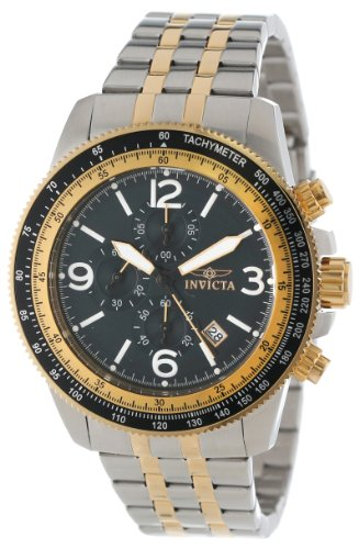 Invicta Men's 13964 Specialty Chronograph Black Dial Two Tone Stainless Steel Watch - 1