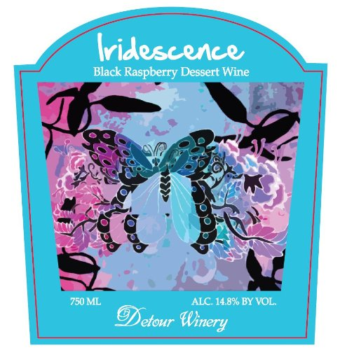 Nv Detour Iridescence Black Raspberry Dessert Wine 750 Ml