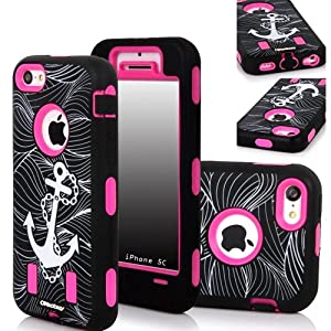 Oksobuy Commuter Series Case for Iphone 5 - Packaging -(Black Pc+pearlescent Aluminum) Zombies Fashion Design Oksobuy-0151