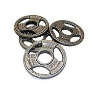 Get Body Power TRI-GRIP Cast Iron Olympic Discs - 1.25Kg (x4) On sale-image