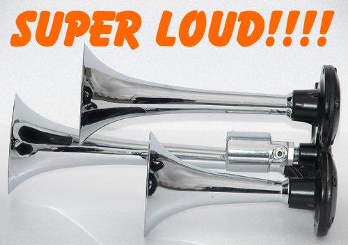 Assured Performance Super Loud Triple Trumpet Train Air Horn 140Db-New