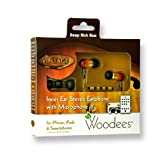 Woodees IESW100V Vintage Noise Isolating Earphones with 3 Button Microphone (Sunburst)