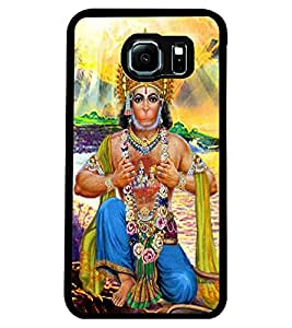 ColourCraft Lord Hanuman Design Back Case Cover for SAMSUNG GALAXY S6 EDGE