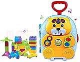 Maleta de viaje MISIO para ninos con luz y sonido - Maleta Infantil - Maleta con bloques de juguete
