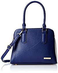 Lino Perros Women's Satchel Handbag (Blue)