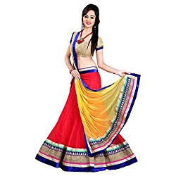 Shree Mira Impex Red Net Lehenga Choli