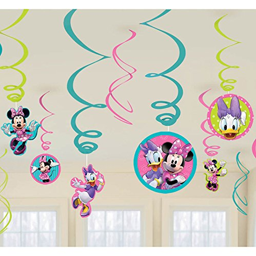 Minnie Swirl Decorations, mickey mouse club house,12 pieces