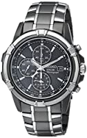 Seiko Men's SSC143 Stainless Steel Solar Watch with Link Bracelet from Seiko
