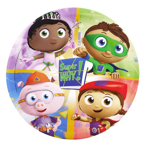 Super Why! Dinner Plates (8)