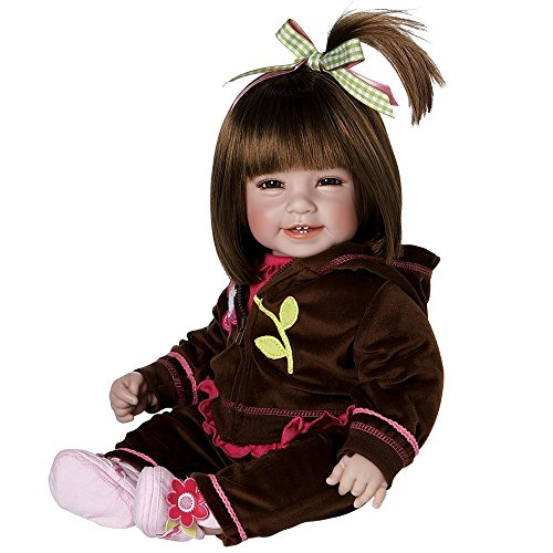 "Adora Toddler Cuddly & Weighted 20""Play Doll -""Workout Chic,"" ""Removable Hoodie Jacket and Tennies Shoes"" Brown Hair/Brown Eyes- Ages 6+"