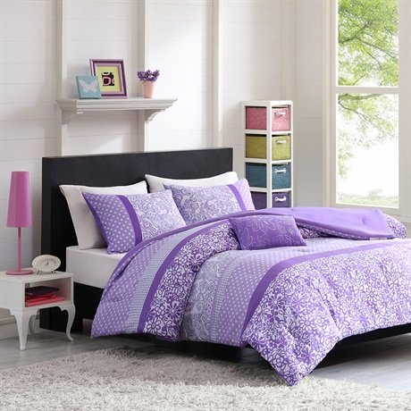 Mizone Riley Comforter Set - Purple - Full/Queen front-175830