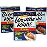 Breathe Right Nasal Strips, Extra, 10ct (Pack of 3)