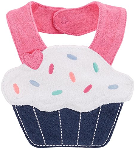 Carter's Cupcake Bib - Navy - Girls - 1