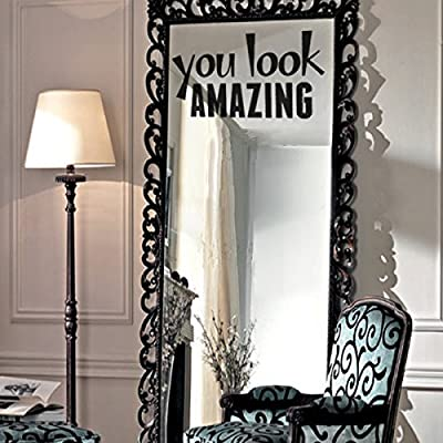 GECKOO Beauty Salon Wall Decor Hair Salon Vinyl-You Look Amazing-Inspirational Quote Art Murals