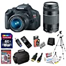 Canon EOS Rebel T3i 18 MP CMOS Digital SLR Camera with EF-S 18-55mm f/3.5-5.6 IS II Zoom Lens & EF 75-300mm f/4-5.6 III Telephoto Zoom Lens & 11 Piece Bundle with 16GB Deluxe Accessory Kit