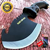 10.5'' TACTICAL SURVIVAL TOMAHAWK AXE BATTLE Hatchet knife hunting BLACK For Hunting Tactical Camping Cosplay + eBOOK by MOON KNIVES