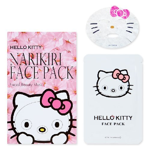 Face-Mask-Japan-Narikiri-Face-Pack-Facial-Beauty-Mask-Hello-Kitty-Cherry-Blossoms-Aroma-Harajuku-Culture-Pack